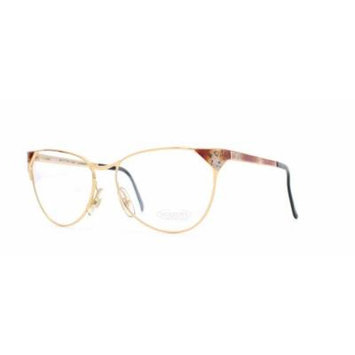 Missoni 301 722 Gold and Red Authentic Women Vintage Eyeglasses Frame
