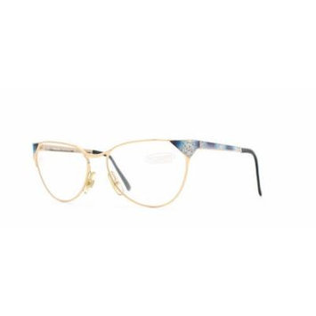 Missoni 301 720 Blue and Gold Authentic Women Vintage Eyeglasses Frame