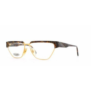 Missoni 162 N 93D Brown and Gold Authentic Women Vintage Eyeglasses Frame
