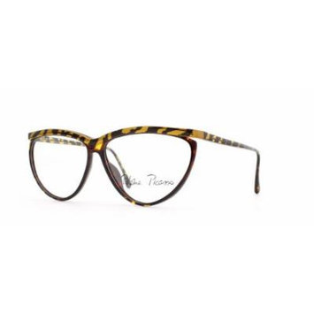 Paloma Picasso 3753 10 Gold and Brown Authentic Women Vintage Eyeglasses Frame