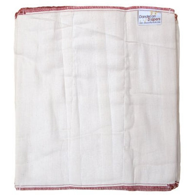 Dandelion Diapers 100% Organic Cotton Prefold Diapers - 1 Dozen - Size 3 - 14 x 15