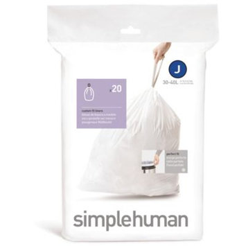 SimpleHuman Sure-fit Can Liner - 38-40L - Pack of 20