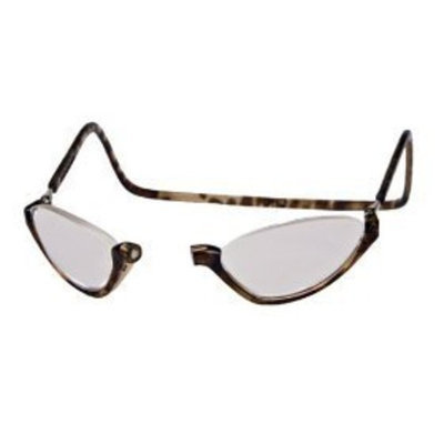 CliC Adjustable Front Connect Ready Sunglass Reader, 2.00 Strength, Light Tortoise