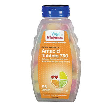 Walgreens Extra 750 mg Chewable Antacid/Calcium Supplement Tablets
