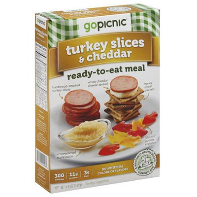 Generic GoPicnic Turkey Slices & Cheddar Ready-to-Eat-Meal, 6 oz, (Pack of 6)