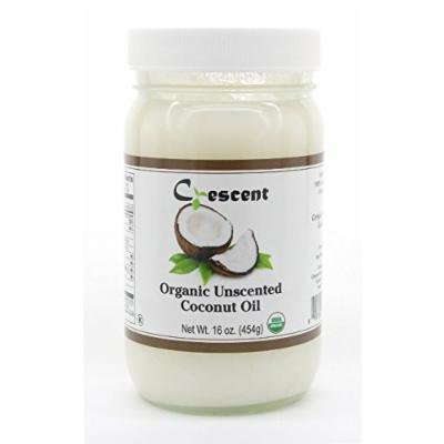 Crescent 100% Organic Virgin Coconut Oil - 16 oz (454g) (Unscented)