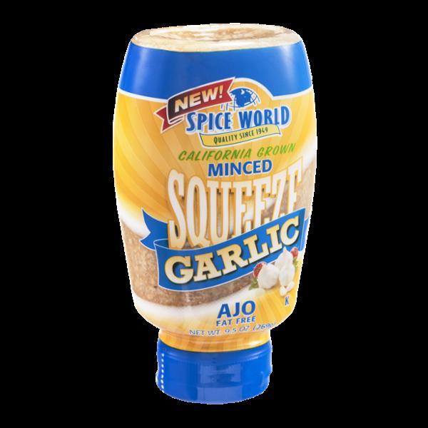 Spice World Minced Squeeze Garlic California Grown