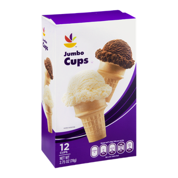 Ahold Ice Cream Cups Jumbo - 12 CT