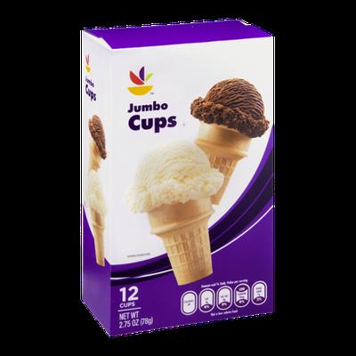 Ahold Ice Cream Cups Jumbo - 12 CT