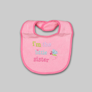 A.d. Sutton & Sons/pacesetter Tender Kisses Infant Girl's Embroidered Bib Little Sister - A.D. SUTTON & SONS/PACESETTER