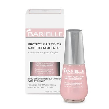 Barielle Protect Plus Color Nail Strengthener, Dark Pink, 0.5 Ounce