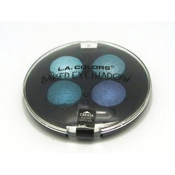 L.A. Colors Baked Eye Shadow Palette Quad
