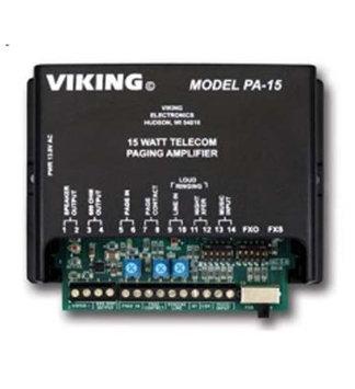 Viking Components Viking 15 Watt Paging Amplifier and Loud Ringer PA 15