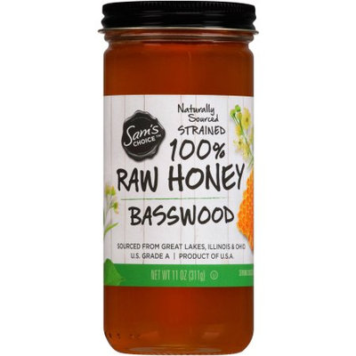 Sam's Choice Basswood 100% Raw Honey, 11 oz