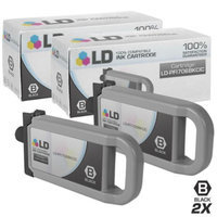 LD Compatible Replacements for Canon PFI-706BK 2PK Black Ink Cartridges for use in Canon imagePROGRAF iPF8300, iPF8300S, iPF8400, iPF8400S, iPF8400SE, iPF9400, & iPF9400S