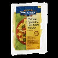 Monterey Gourmet Foods Ravioli Chicken, Spinach & Sun Dried Tomato