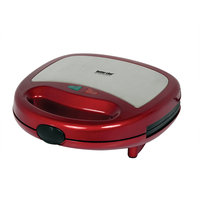 Better Chef - Panini Contact Grill - Red/stainless-steel