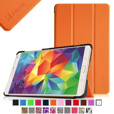 Fintie Samsung Galaxy Tab S 8.4 (8.4-Inch) Smart Shell Case - Ultra Slim Lightweight Stand Cover, Orange
