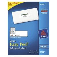 Avery 1-1/3 x 4 Inkjet Easy Peel Address Labels - White (350 Per Pack)