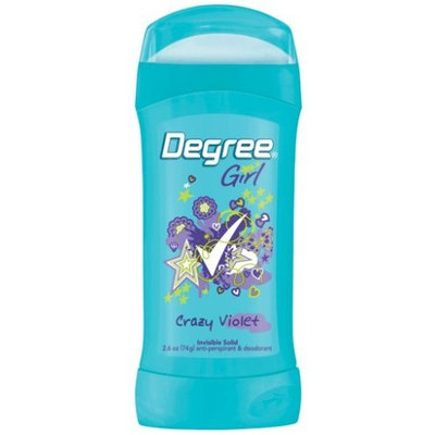 Degree Girl, Anti-perspirant & Deodorant, Invisible Solid, Crazy Violet, 2.6-Ounce Stick (Pack of 6)