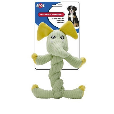 Ethical Tuff Twists Elephant 9-Inch Squeaky Dog Toy