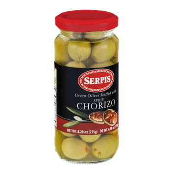 Serpis Green Olives Stuffed with Spicy Chorizo