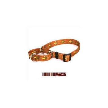 Yellow Dog Design M-RES103L Burgundy Stripes Martingale Collar - Large
