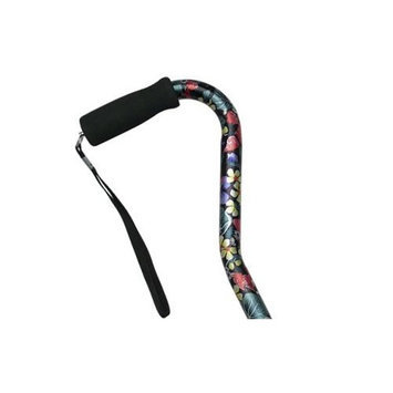 Harvy Adjustable Center Balance Grip Cane Night Flowers -Affordable Gift! Item #DHAR-9052114