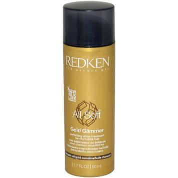 Redken All Soft Gold Glimmer Treatment for Unisex, 1.7 Ounce