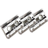 Axis AXIS 58020 60-Minute Microcassette Tapes, 3 pk