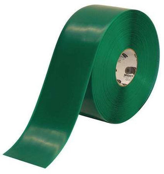 Mighty Line Industrial Floor Tape (Roll, Green, Vinyl). Model: 4RG