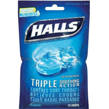 HALLS Mentho-Lyptus Ice Peppermint Drops