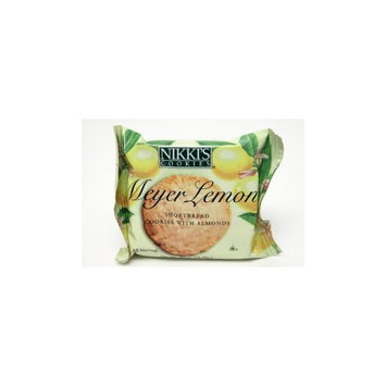 Nikkies Nikkis® Cookies - Meyer Lemon Shortbread w/almonds. (Case of 24)