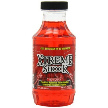 Advanced Nutrient Science Intl Xtreme Shock, Fruit Punch, 12-Ounce, 12-Count, Zero Sugar