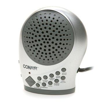 Conair Silver Sound Therapy Machine with Night Light