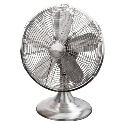 Holmes Metal Table Fan - Brushed Nickel
