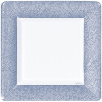 King Zak Ind Lillian Tablesettings 24315 Blue Texture 10 in. Square Plate - 576 Per Case