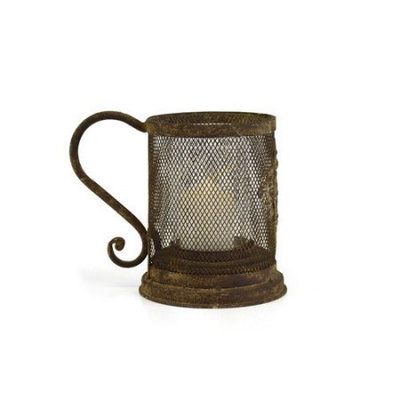 Sheaswildflowers Vintage Metal Tea Light Mug