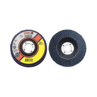 CGW Abrasives Flap Discs, Z3 -100pct Zirconia, Regular - 4x5/8 t29 z3 reg 60 gritflap disc