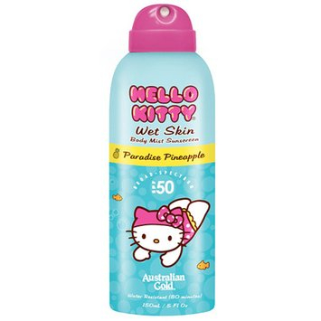 Australian Gold Hello Kitty Wet Skin Body Mist Sunscreen, SPF 50 Pineapple