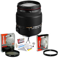 Sigma Zoom Super Wide Angle 18-200mm f/3.5-6.3 DC OS HSM (Optical Stabilizer) Lens for Canon + Opteka UV Filter + Opteka CPL Filter + Opteka 5 Piece Cleaning Ki