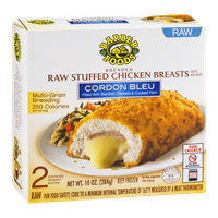 Barber Foods Raw Stuffed Chicken Breasts Cordon Bleu - 2 CT