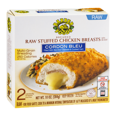 Barber Foods Raw Stuffed Chicken Breasts Cordon Bleu - 2 CT