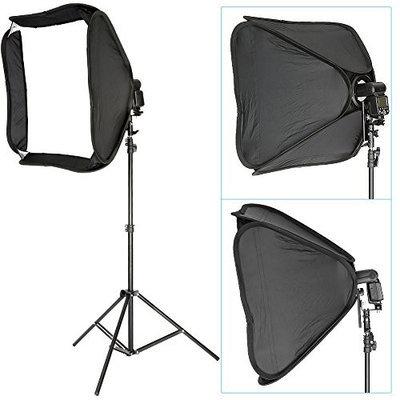Neewer® Professional Protable Off-Camera Flash Softbox & Stand Kit for Nikon SB900 SB800 SB600, Canon 580EXII, Neewer TT860, Yongnuo, Nissin, Pentax, Olympus a