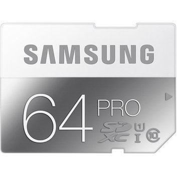 Samsung PRO 64GB SDXC Flash Memory Card - Class 10, UHS-1, 90MB/s Read - MB-SG64D/AM