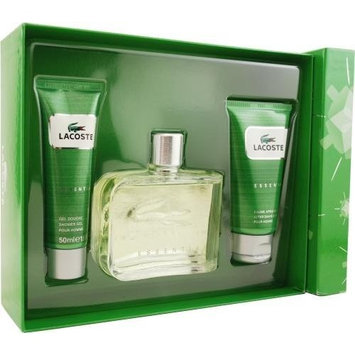 Lacoste Essential by Lacoste for Men. Set-Eau De Toilette Spray 4.2-Ounces & Aftershave Balm 2.5-Ounces & Shower Gel 1.7-Ounces