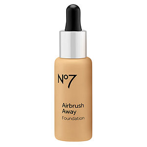 Boots No7 Airbrush Away Foundation, Honey, 1 oz
