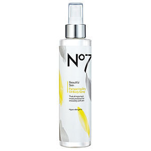 Boots No7 Beautiful Skin Pampering Dry Oil Body Spray, 6.8 oz
