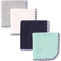 Baby Vision Hudson Baby 4 Pack Print Woven Washcloth - Honeycomb