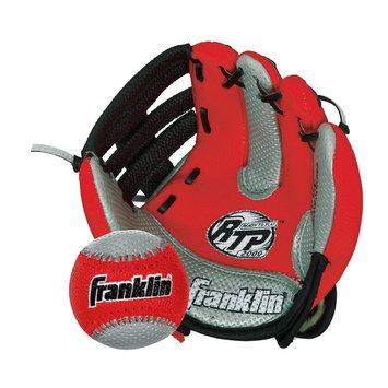 Franklin Sports Red AIR TECH Soft Foam Baseball Glove & Ball